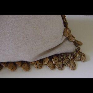 Leopard Beaded Pillow